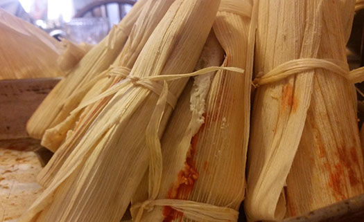 Wrapped and ready-to-steam tamales!