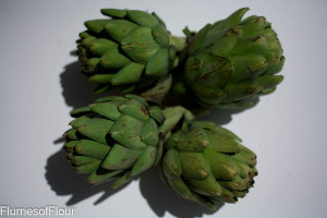 bunch of artichokes