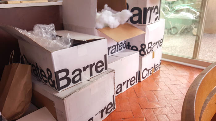 Create and Barrel boxes