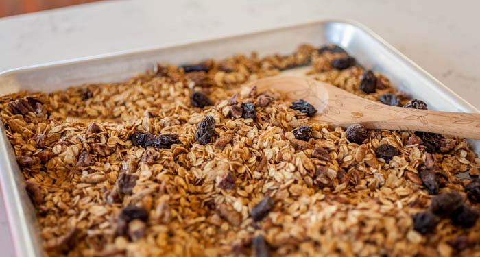 make granola in the oven