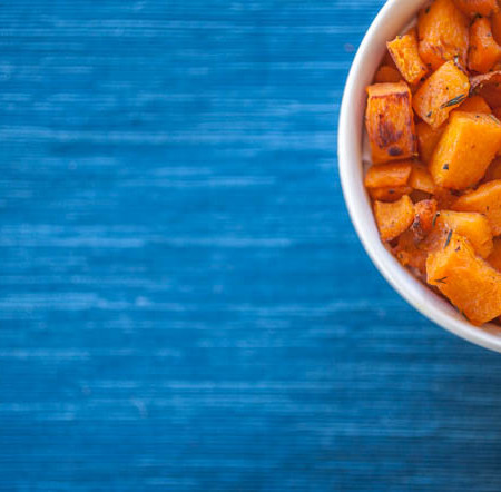 Bowl of roasted squash