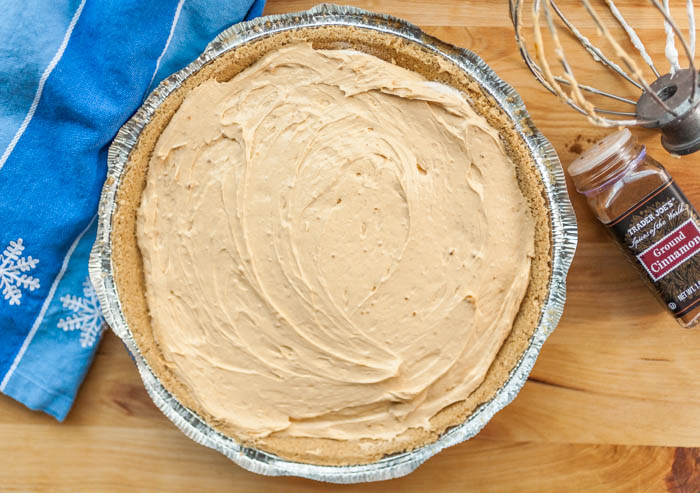 the taste of the season with pumpkin pie spice cookie butter cheesecake