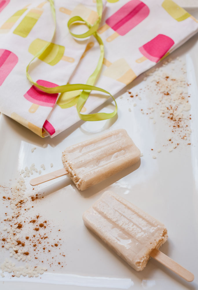 Nothing says summer like homemade horchata Popsicles!