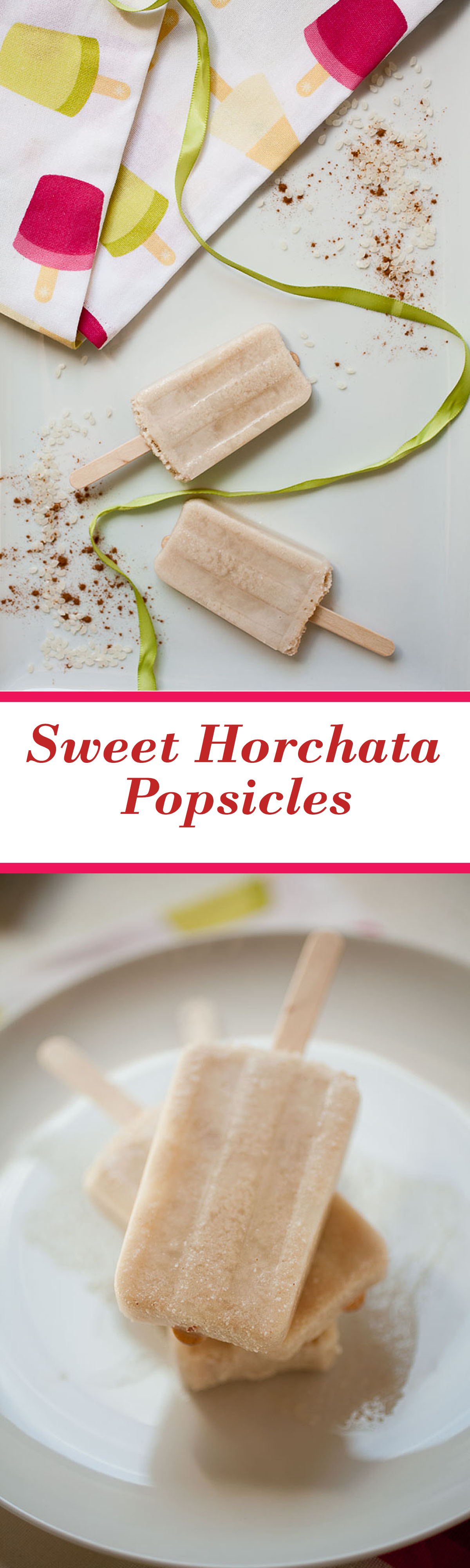 These sweet, creamy homemade horchata Popsicles are a perfect summer treat!