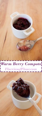 This warm summer compote is easy to make and the perfect partner with any summer dessert!