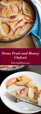 Use of the best of summer's sweet stone fruit in this custardy, simple-to-make honey and stone fruit clafouti!