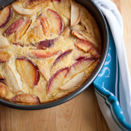 A sweet, custardy dessert perfect for showcasing the best of summer's stone fruit!