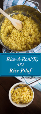 This recipe for fluffy, fragrant, and flavorful rice pilaf is a healthy Rice-A-Roni copycat recipe your family will love as much as the boxed version!