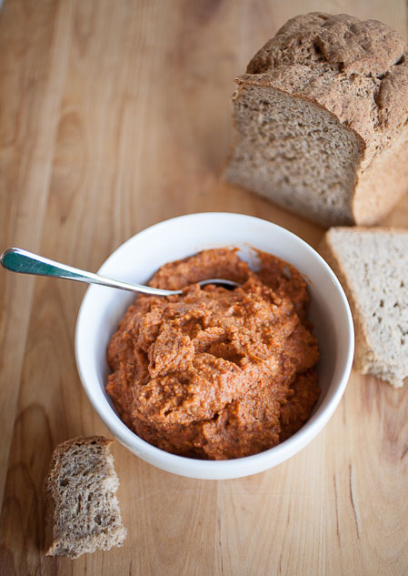 This farmers market romesco sauce is boldly delicious and makes a perfect spread!