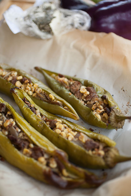 Get all the flavors of the harvest--with a kick--with fajita-stuffed Hatch green chile!
