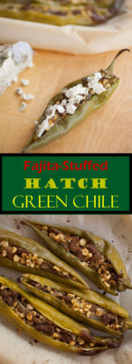 Add a little spice to your dinner table with this recipe for fajita-stuffed Hatch green chile, full of harvest flavors!