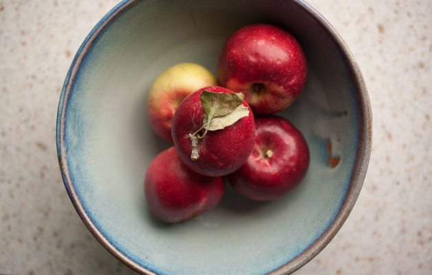 Beautiful local apples make the perfect base for breakfast baked apples with granola crumble