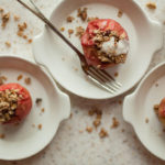 Baked apples with a granola crumble make a perfect delicious and warming fall breakfast or brunch!