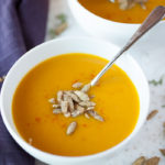 Spiced Pumpkin and Carrot soup is simple, warming, and perfect for cool fall evenings!