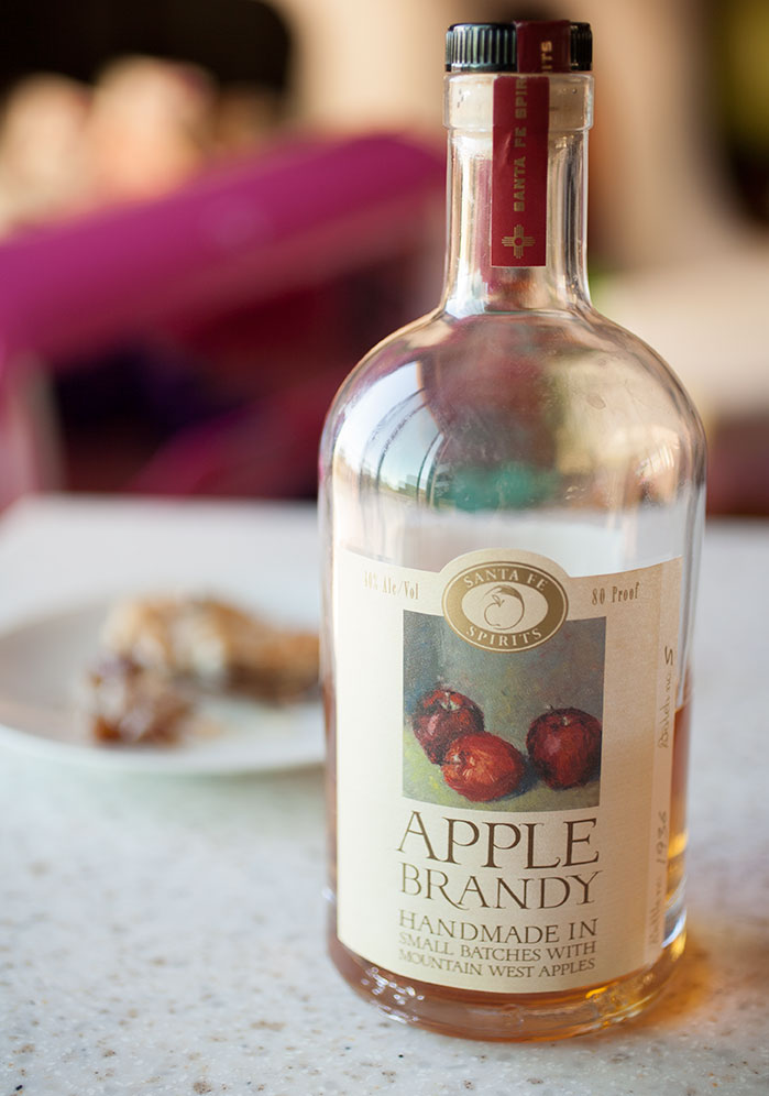 Apple brandy from Santa Fe Spirits adds a special layer of warm flavor to this simple recipe for warm Calvados apple galette.