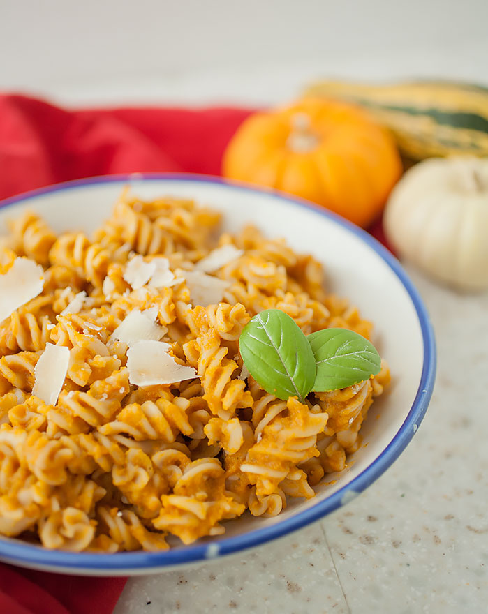 Get your fill of fall squash with this simple, flavorful creamy autumn harvest pasta sauce!