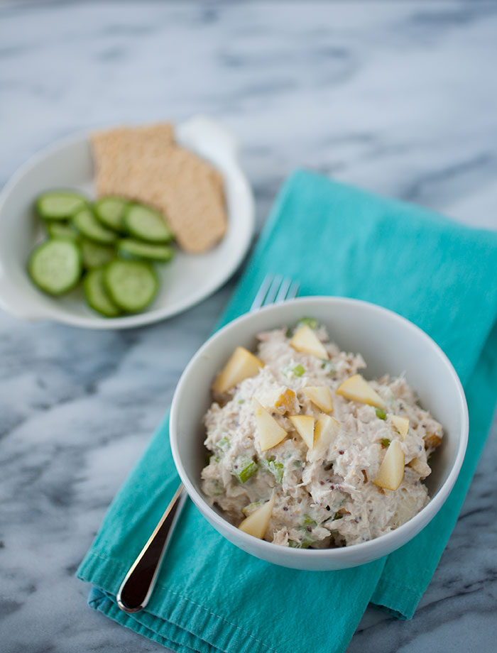 Delicious, easy, and unexpected—tuna and sweet apple salad makes the perfect quick lunch dish!