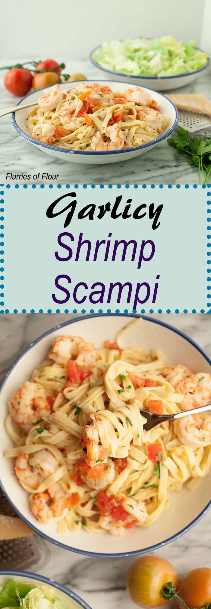 Pure comfort food that is quick and easy to make: that's this recipe for garlicky shrimp scampi. It's also perfectly impressive and something you can cook for someone special this Valentine's Day!
