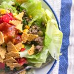 grass-fed ground beef used to make a south-of-the-border salad